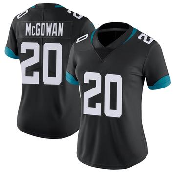 Women's Nike Jacksonville Jaguars Taj McGowan Black 100th Vapor Untouchable Jersey - Limited