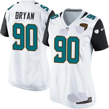 Women's Nike Jacksonville Jaguars Taven Bryan White Jersey - Game
