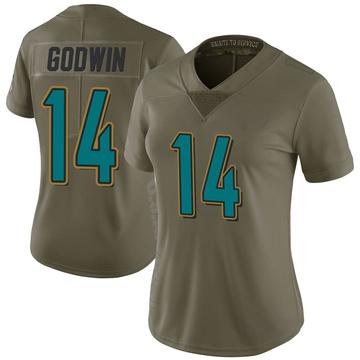 Women's Nike Jacksonville Jaguars Terry Godwin Green 2017 Salute to Service Jersey - Limited