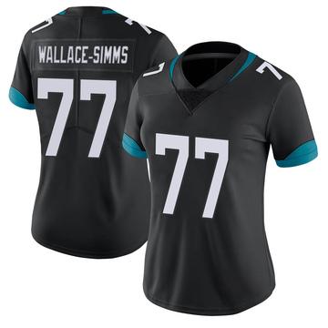 Women's Nike Jacksonville Jaguars Tre'Vour Wallace-Simms Black Vapor Untouchable Jersey - Limited