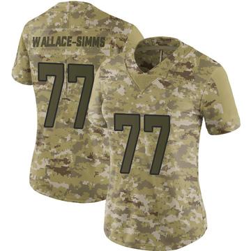 Women's Nike Jacksonville Jaguars Tre'Vour Wallace-Simms Camo 2018 Salute to Service Jersey - Limited