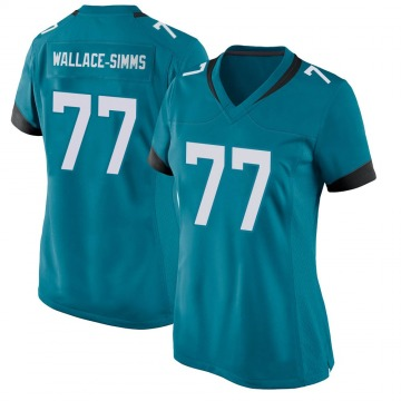 Women's Nike Jacksonville Jaguars Tre'Vour Wallace-Simms Teal Jersey - Game