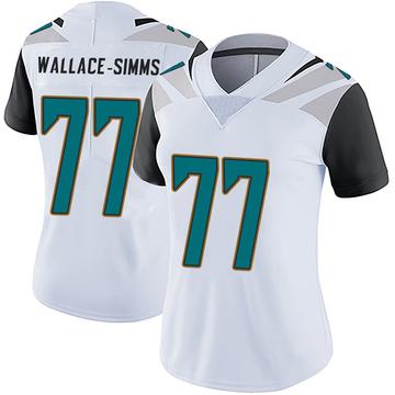 Women's Nike Jacksonville Jaguars Tre'Vour Wallace-Simms White Vapor Untouchable Jersey - Limited
