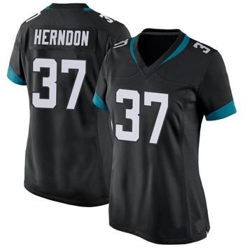 Women's Nike Jacksonville Jaguars Tre Herndon Black Jersey - Game