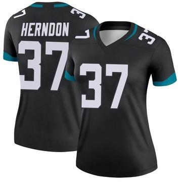 Women's Nike Jacksonville Jaguars Tre Herndon Black Jersey - Legend