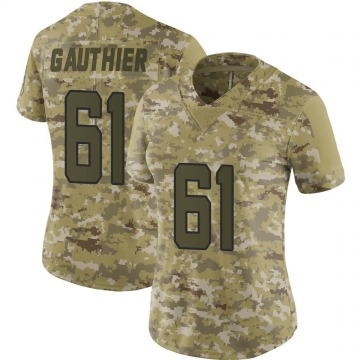 Women's Nike Jacksonville Jaguars Tyler Gauthier Camo 2018 Salute to Service Jersey - Limited