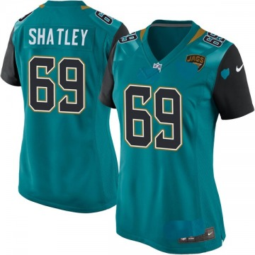 Women's Nike Jacksonville Jaguars Tyler Shatley Teal Team Color Jersey - Game