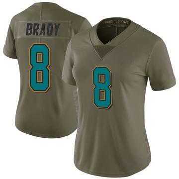 Women's Nike Jacksonville Jaguars Tyre Brady Green 2017 Salute to Service Jersey - Limited