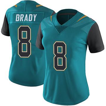 Women's Nike Jacksonville Jaguars Tyre Brady Teal Vapor Untouchable Team Color Jersey - Limited