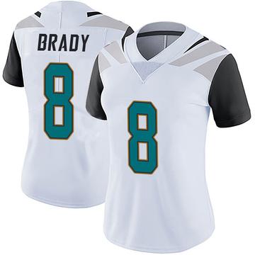 Women's Nike Jacksonville Jaguars Tyre Brady White Vapor Untouchable Jersey - Limited