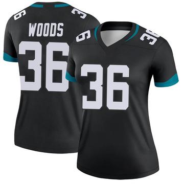 Women's Nike Jacksonville Jaguars Zedrick Woods Black Jersey - Legend