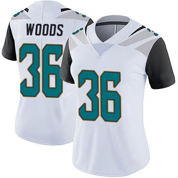 Women's Nike Jacksonville Jaguars Zedrick Woods White Vapor Untouchable Jersey - Limited