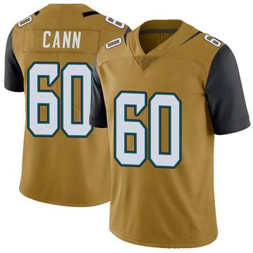 Youth Nike Jacksonville Jaguars A.J. Cann Gold Color Rush Vapor Untouchable Jersey - Limited