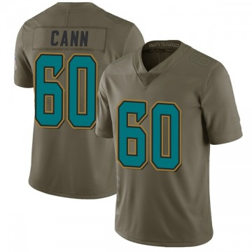 Youth Nike Jacksonville Jaguars A.J. Cann Green 2017 Salute to Service Jersey - Limited