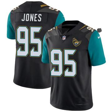 Youth Nike Jacksonville Jaguars Abry Jones Black Vapor Untouchable Alternate Jersey - Limited
