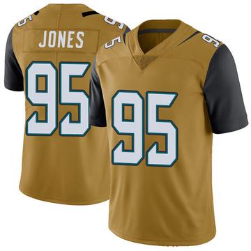 Youth Nike Jacksonville Jaguars Abry Jones Gold Color Rush Vapor Untouchable Jersey - Limited