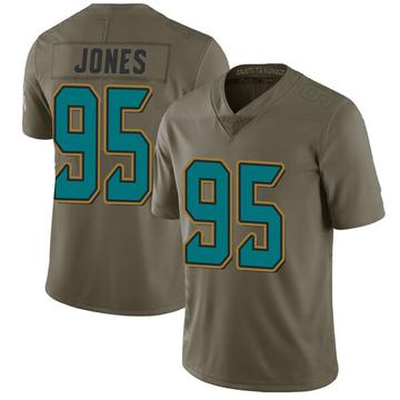 Youth Nike Jacksonville Jaguars Abry Jones Green 2017 Salute to Service Jersey - Limited
