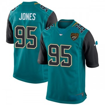 Youth Nike Jacksonville Jaguars Abry Jones Teal Team Color Jersey - Game