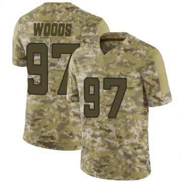 Youth Nike Jacksonville Jaguars Al Woods Camo 2018 Salute to Service Jersey - Limited