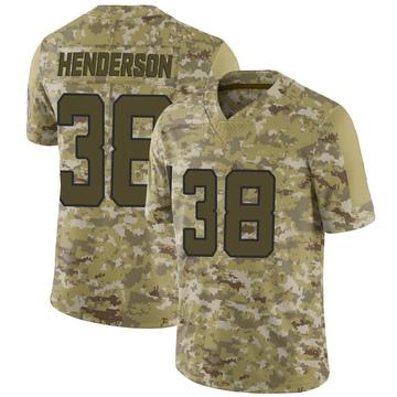 Youth Nike Jacksonville Jaguars Amari Henderson Camo 2018 Salute to Service Jersey - Limited