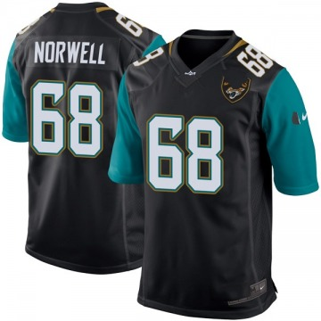 Youth Nike Jacksonville Jaguars Andrew Norwell Black Alternate Jersey - Game