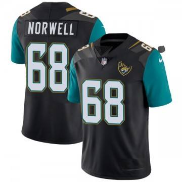 Youth Nike Jacksonville Jaguars Andrew Norwell Black Vapor Untouchable Alternate Jersey - Limited
