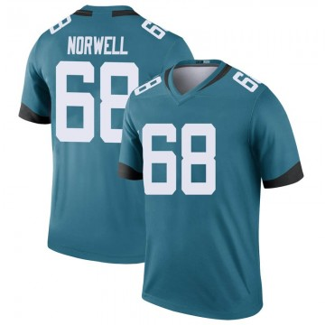 Youth Nike Jacksonville Jaguars Andrew Norwell Teal Color Rush Jersey - Legend