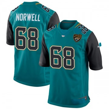Youth Nike Jacksonville Jaguars Andrew Norwell Teal Team Color Jersey - Game