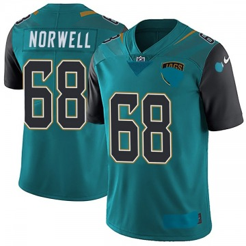 Youth Nike Jacksonville Jaguars Andrew Norwell Teal Vapor Untouchable Team Color Jersey - Limited