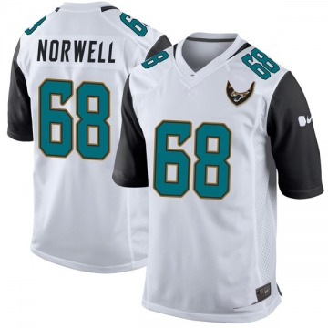 Youth Nike Jacksonville Jaguars Andrew Norwell White Jersey - Game