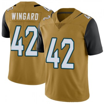 Youth Nike Jacksonville Jaguars Andrew Wingard Gold Color Rush Vapor Untouchable Jersey - Limited