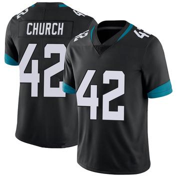 Youth Nike Jacksonville Jaguars Barry Church Black 100th Vapor Untouchable Jersey - Limited