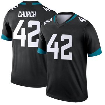 Youth Nike Jacksonville Jaguars Barry Church Black Jersey - Legend