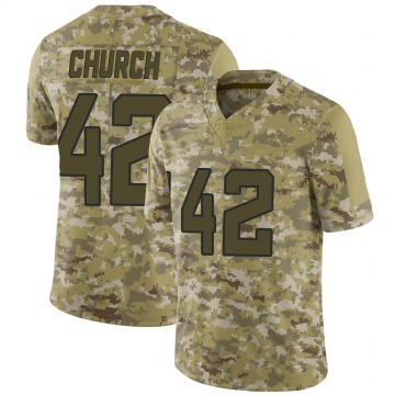 Youth Nike Jacksonville Jaguars Barry Church Camo 2018 Salute to Service Jersey - Limited