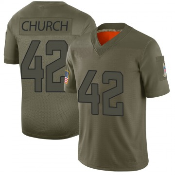 Youth Nike Jacksonville Jaguars Barry Church Camo 2019 Salute to Service Jersey - Limited