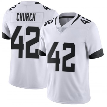Youth Nike Jacksonville Jaguars Barry Church White Vapor Untouchable Jersey - Limited