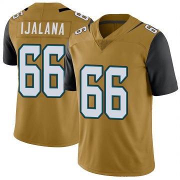 Youth Nike Jacksonville Jaguars Ben Ijalana Gold Color Rush Vapor Untouchable Jersey - Limited