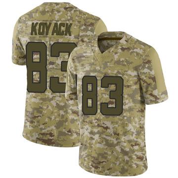 Youth Nike Jacksonville Jaguars Ben Koyack Camo 2018 Salute to Service Jersey - Limited
