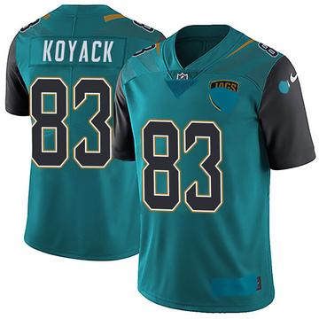 Youth Nike Jacksonville Jaguars Ben Koyack Teal Vapor Untouchable Team Color Jersey - Limited