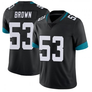 Youth Nike Jacksonville Jaguars Blair Brown Black 100th Vapor Untouchable Jersey - Limited
