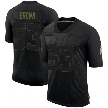Youth Nike Jacksonville Jaguars Blair Brown Black 2020 Salute To Service Jersey - Limited