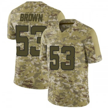 Youth Nike Jacksonville Jaguars Blair Brown Brown Camo 2018 Salute to Service Jersey - Limited