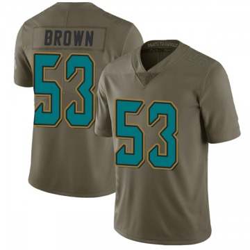 Youth Nike Jacksonville Jaguars Blair Brown Green 2017 Salute to Service Jersey - Limited
