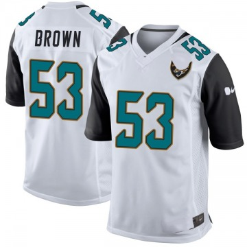 Youth Nike Jacksonville Jaguars Blair Brown White Jersey - Game