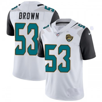 Youth Nike Jacksonville Jaguars Blair Brown White Vapor Untouchable Jersey - Limited