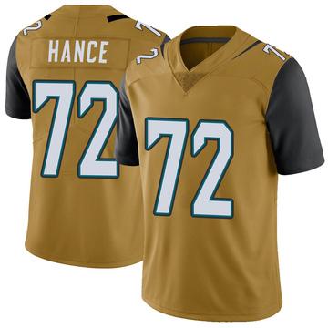 Youth Nike Jacksonville Jaguars Blake Hance Gold Color Rush Vapor Untouchable Jersey - Limited