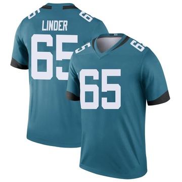 Youth Nike Jacksonville Jaguars Brandon Linder Teal Color Rush Jersey - Legend