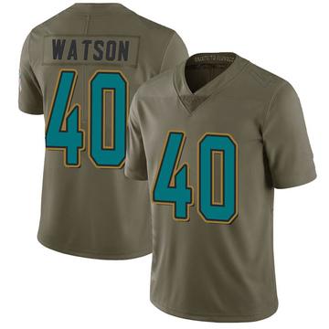 Youth Nike Jacksonville Jaguars Brandon Watson Green 2017 Salute to Service Jersey - Limited