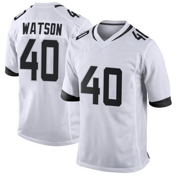 Youth Nike Jacksonville Jaguars Brandon Watson White Jersey - Game
