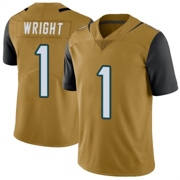 Youth Nike Jacksonville Jaguars Brandon Wright Gold Color Rush Vapor Untouchable Jersey - Limited